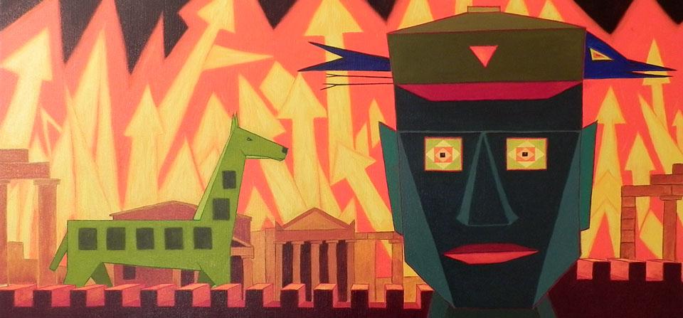 Troja brennt